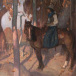 Eric Bowman, Autumnwood, oil, 30 x 40.