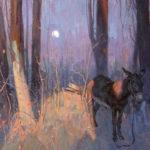 Eric Bowman, Little Lost Burro, oil, 16 x 20.