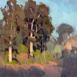Eric Bowman, September Oaks, oil, 12 x 12.