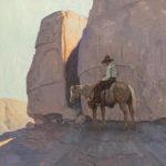 Eric Bowman, Solitaire, oil, 20 x 20.