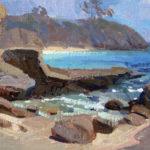 Eric Bowman, Three Arch Bay, oil, 9 x 12.