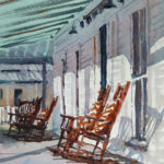Brienne Brown, On the Porch, watercolor, 10 x 8.