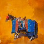 Sophy Brown, The Picador's Horse, acrylic, 60 x 55.