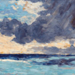 Winston Churchill, Seascape With Rain Clouds, c. 1920, oil, 13 x 17. Courtesy of M.S. Rau Antiques.