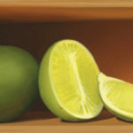 Benjamin M. Johnson, Limes, oil, 4 x 8.