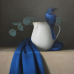 Sarah Siltala, Still Life With Bluebird, oil, 18 x 14.