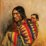 Charles M. Russell, Stone in Moccassin Woman, 1887, oil, 9 x 9. Estimate: $70,000-$100,000.