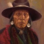 John DeMott, Chief Turtle, oil, 16 x 12.