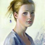 Aleksey and Olga Ivanov, Lavender, tempera, 14 x 11.