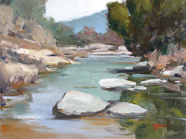 Garrett Michael, Gray Creek, oil, 9 x 12.