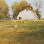 Allie Zeyer, After the Harvest, oil, 12 x 16.