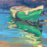 Suzie Baker, Little Green Boat, oil, 6 x 8.