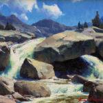 Kimball Geisler, Early Summer Runoff, oil, 11 x 14.