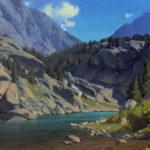 Kimball Geisler, North End Cascade, oil, 18 x 24.