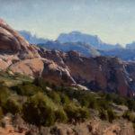 Kimball Geisler, Rock Orchard, oil, 12 x 16.