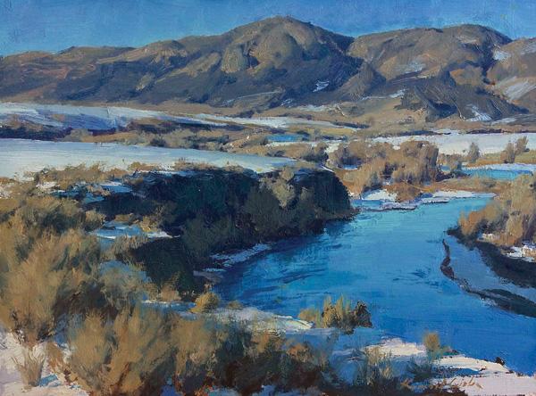 Kimball Geisler, Winter Transitions, oil, 12 x 16.
