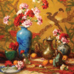 Robert A. Johnson, Carnations, oil, 30 x 24.