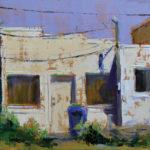 """DK """"Deke"""" Palecek, Alley Blues, oil, 9 x 12."""