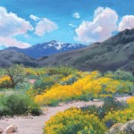 Elaine Mathews, Springtime in the Desert, oil, 16 x 20.