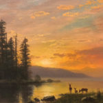Sunset, Salt Lake by Albert Bierstadt.