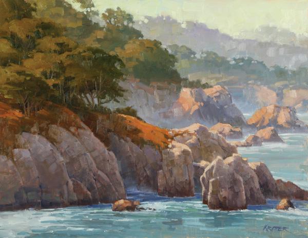 Paul Kratter, Coastal Layers, oil, 14 x 18.