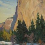 Paul Kratter, El Capitan in Light, oil, 12 x 9.