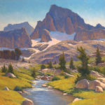 Paul Kratter, From the Source, Mt Banner, oil, 24 x 24.
