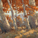 Paul Kratter, From Under the Sycamores, oil, 12 x 20.