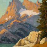 Paul Kratter, Minaret Morning Glow, oil, 8 x 10.