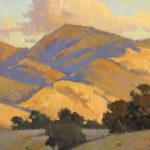 Paul Kratter, Mount Diablo, Golden Hour, oil, 6 x 12.