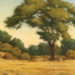 Paul Kratter, On the Move, oil, 20 x 48.