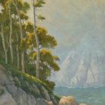 Paul Kratter, Rising Above, oil, 30 x 5.