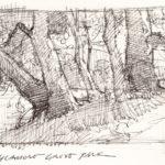 Paul Kratter, Sycamore Grove Park, sketch.
