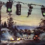 Dan Mondloch, 19 Below, watercolor, 11 x 15.