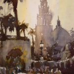 Dan Mondloch, Balboa Sunset, watercolor, 15 x 11.