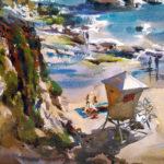 Dan Mondloch, Catching Some Sun, watercolor, 11 x 15.