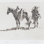 Joel Ostlind, The Yellow Slicker, etching.