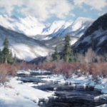Matt Smith, Winter Along Gore Creek, oil, 24 x 30.
