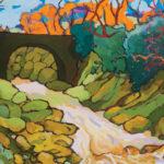 Angus, Bridge Under Winter's Sky, acrylic, 22 x 34.
