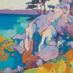 Angus, Cool Shadows With a Warm Breeze, acrylic, 24 x 18.