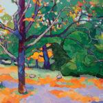 Angus, Until the Last Leaf (Forest Hill Park, Richmond, VA), acrylic, 18 x 24.