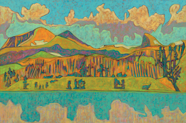 K.L. McKenna, Lake at Silver Spruce Ranch, CO, oil, 36 x 54.