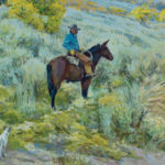 Steven Heward, Whitehorse and His Pup, oil, 30 x 40.