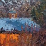 Merrimon Kennedy, Afternoon Shadows on Barn, oil, 14 x 11.