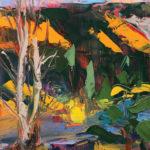 Merrimon Kennedy, Conejos River Study I, oil, 8 x 6.