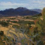 Merrimon Kennedy, View of Galisteo Basin Preserve, oil, 12 x 16.