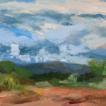 Merrimon Kennedy, Sunday Morning Looking East, oil, 11 x 14.