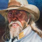 Michael Meyer, Captain Cooper, watercolor, 13 x 17.