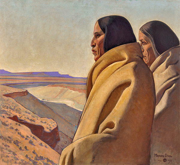 MAYNARD DIXON, MEN OF THE RED EARTH, 1931-32, OIL, 36 X 41.