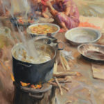 Quang Ho, 27-Year Feast, 1995, oil, 30 x 24, collection of the artist.
